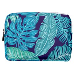 Tropical Greens Leaves Banana Make Up Pouch (medium)