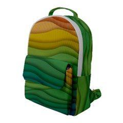 Waves Texture Flap Pocket Backpack (large)
