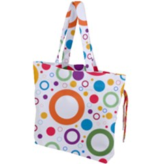 Wallpaper Circle Drawstring Tote Bag