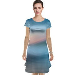 Wave Background Cap Sleeve Nightdress