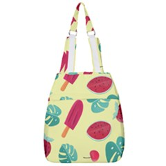 Watermelon Leaves Strawberry Center Zip Backpack