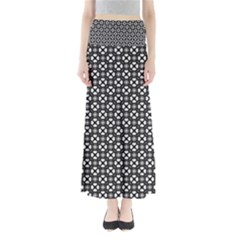 Imagine Paint Black White Full Length Maxi Skirt