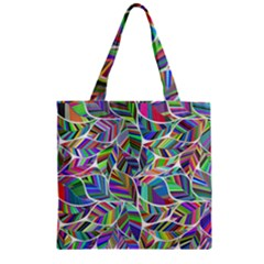 Leaves Leaf Nature Ecological Zipper Grocery Tote Bag