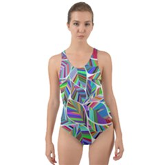 Leaves Leaf Nature Ecological Cut Out Back One Piece Swimsuit