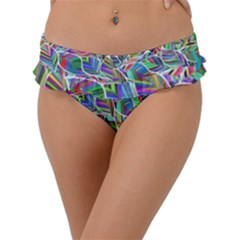 Leaves Leaf Nature Ecological Frill Bikini Bottom