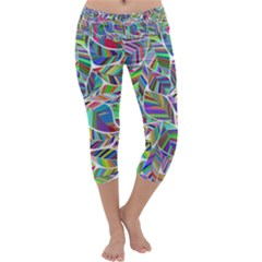 Leaves Leaf Nature Ecological Capri Yoga Leggings