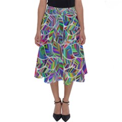 Leaves Leaf Nature Ecological Perfect Length Midi Skirt