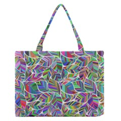 Leaves Leaf Nature Ecological Zipper Medium Tote Bag
