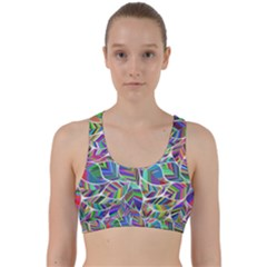 Leaves Leaf Nature Ecological Back Weave Sports Bra