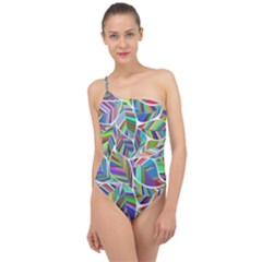 Leaves Leaf Nature Ecological Classic One Shoulder Swimsuit