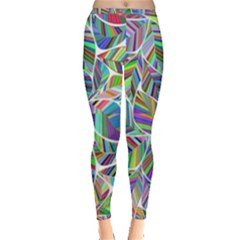 Leaves Leaf Nature Ecological Inside Out Leggings