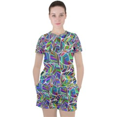 Leaves Leaf Nature Ecological Women s Tee And Shorts Set