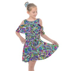 Leaves Leaf Nature Ecological Kids  Shoulder Cutout Chiffon Dress