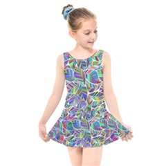 Leaves Leaf Nature Ecological Kids  Skater Dress Swimsuit