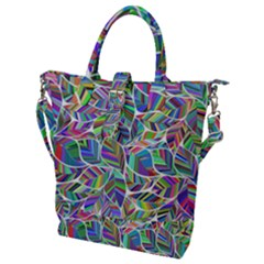 Leaves Leaf Nature Ecological Buckle Top Tote Bag
