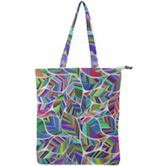 Leaves Leaf Nature Ecological Double Zip Up Tote Bag