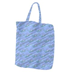 Waterlily Lotus Flower Pattern Lily Giant Grocery Tote
