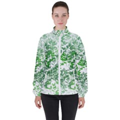 Seamless Tile Background Abstract High Neck Windbreaker (women)