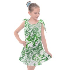 Seamless Tile Background Abstract Kids  Tie Up Tunic Dress by AnjaniArt