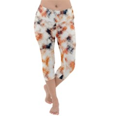 Multicolored Blur Abstract Texture Lightweight Velour Capri Yoga Leggings by dflcprintsclothing