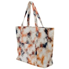 Multicolored Blur Abstract Texture Zip Up Canvas Bag
