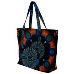 Ornament Fractal Pattern Background Zip Up Canvas Bag