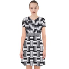 Black And White Basket Weave Adorable in Chiffon Dress