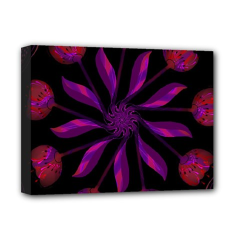 Background Purple Black Red Deluxe Canvas 16  X 12  (stretched)  by Pakrebo