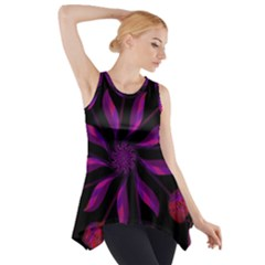 Background Purple Black Red Side Drop Tank Tunic