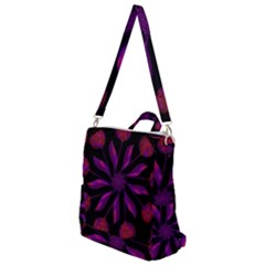 Background Purple Black Red Crossbody Backpack