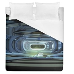 Spaceship Interior Stage Design Duvet Cover (queen Size)
