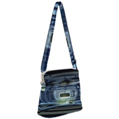 Spaceship Interior Stage Design Zipper Messenger Bag