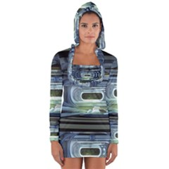Spaceship Interior Stage Design Long Sleeve Hooded T Shirt