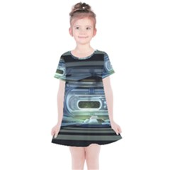 Spaceship Interior Stage Design Kids  Simple Cotton Dress