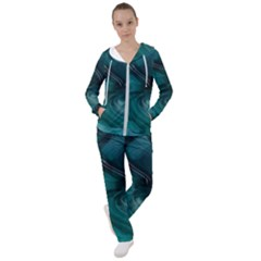 Abstract Graphics Water Web Layout Women s Tracksuit by Pakrebo