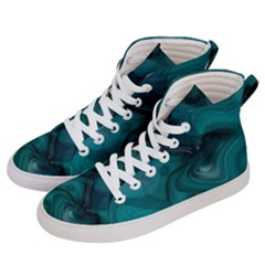Abstract Graphics Water Web Layout Women s Hi Top Skate Sneakers by Pakrebo