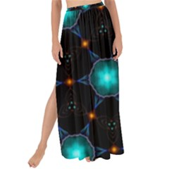 Ornament Pattern Color Background Maxi Chiffon Tie Up Sarong