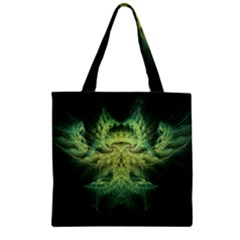 Fractal Jwildfire Scifi Zipper Grocery Tote Bag