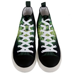 Fractal Jwildfire Scifi Men s Mid Top Canvas Sneakers