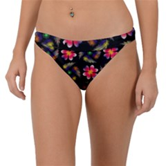 Pattern Flowers Wallpaper Band Bikini Bottom