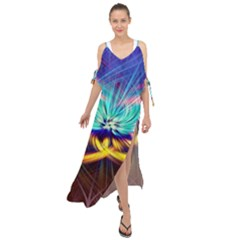 Colorful Chakra Lsd Spirituality Maxi Chiffon Cover Up Dress