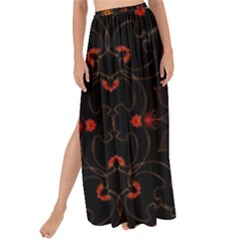 Ornament Background Tender Web Maxi Chiffon Tie Up Sarong