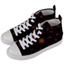 Ornament Background Tender Web Women s Mid-Top Canvas Sneakers View2