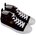 Ornament Background Tender Web Women s Mid-Top Canvas Sneakers View3