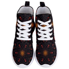 Ornament Background Tender Web Women s Lightweight High Top Sneakers