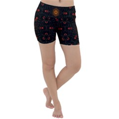 Ornament Background Tender Web Lightweight Velour Yoga Shorts