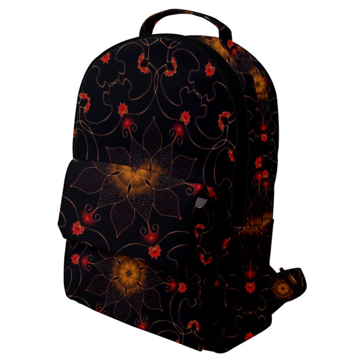 Ornament Background Tender Web Flap Pocket Backpack (Small)