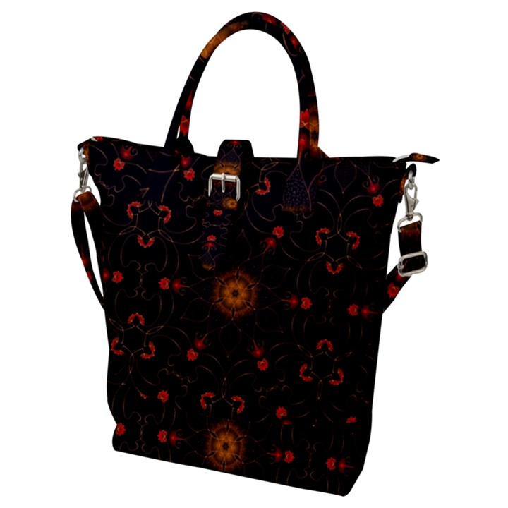 Ornament Background Tender Web Buckle Top Tote Bag