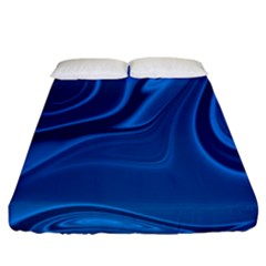 Rendering Streak Wave Background Fitted Sheet (california King Size)