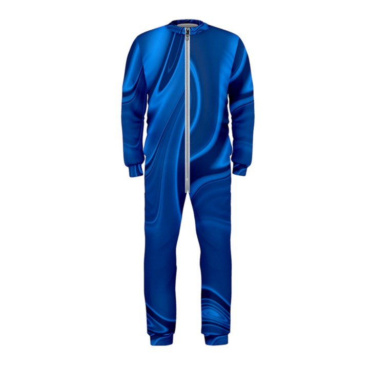 Rendering Streak Wave Background OnePiece Jumpsuit (Kids)